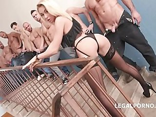 Russian Cock Queen Katrin Tequila 10on1 Double Anal Gangbang - Fuck she is so go