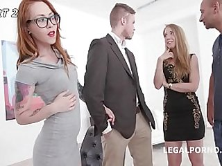Cathy Heaven and friends - Orgy after shooting Football from her Asshole!