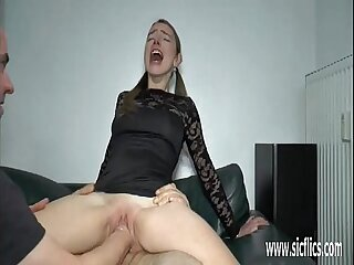 Teen girl double fist and cock penetration