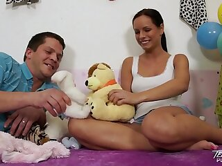 Teenyplayground Super hot teen Kari fucked by older ugly man in her bed