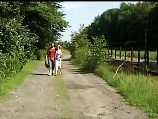 Public and outdoor sex with a young girl and guy
