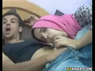 Arab Teen In Hijab Gives Blowjob