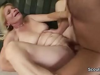 Young Stranger Men with Big Dick Fuck Old Woman