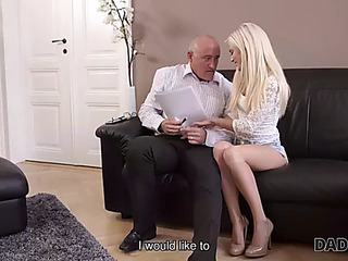 Daddy4k.fearsome aged businessman cums in blonde's face hole to finish hawt sex