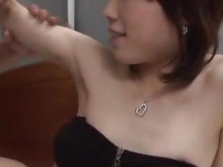 Japanese AV Model has hairy crack fingered, licked and nailed