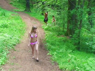 Real euro teens fucking doggystyle outdoors