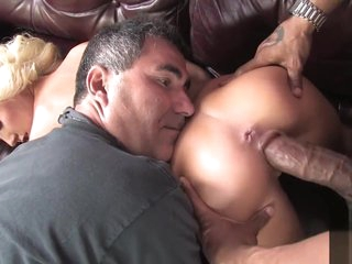 Cuckold watching young wife fucked monster black cock