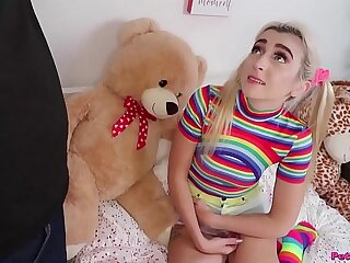 Pigtails and Rainbows - Petite Teen Fuck
