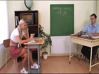 Sexy schoolgirl gets a bad grade and she's spanked and fucked!