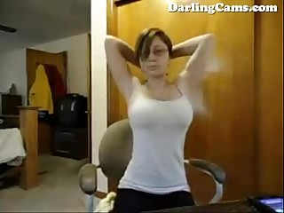 Nerdy 18yo Webcam Model Sara has HUGE tits - DarlingCams.com