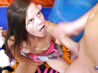 Teenyplayground Cute teen celebrate birthday with older man & fuck first time