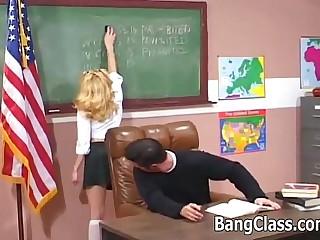 Schoolgirl gets dicked by her teacher