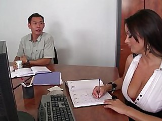 Epic gushes of cum for naughty cock-hungry secretary Sheila Grant at the office